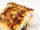 Рецепта Печени патладжани със сирене, кашкавал и яйца огретен на фурна